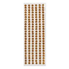 Стразы клейкие для декора - 3мм золотисто оранжевые 150шт