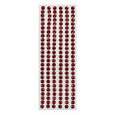 Стразы клейкие для декора - 3мм красные 150шт