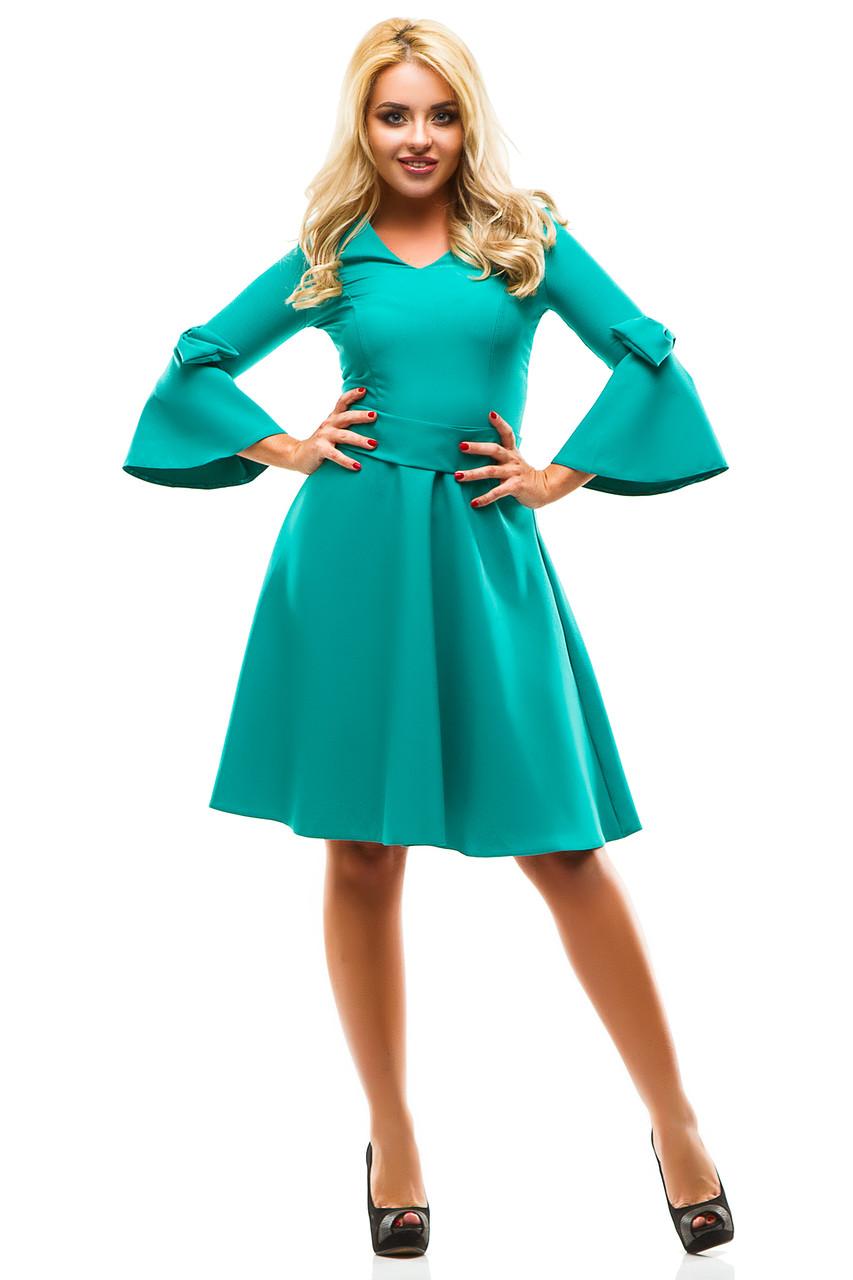Платье 244 зеленое размер 42