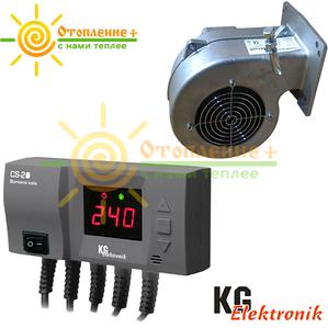 KG Elektronik CS 20 + DP 02 Комплект автоматики для твердотопливных котлов