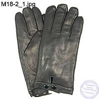 Мужские кожаные зимние перчатки из оленьей кожи - M18-2
