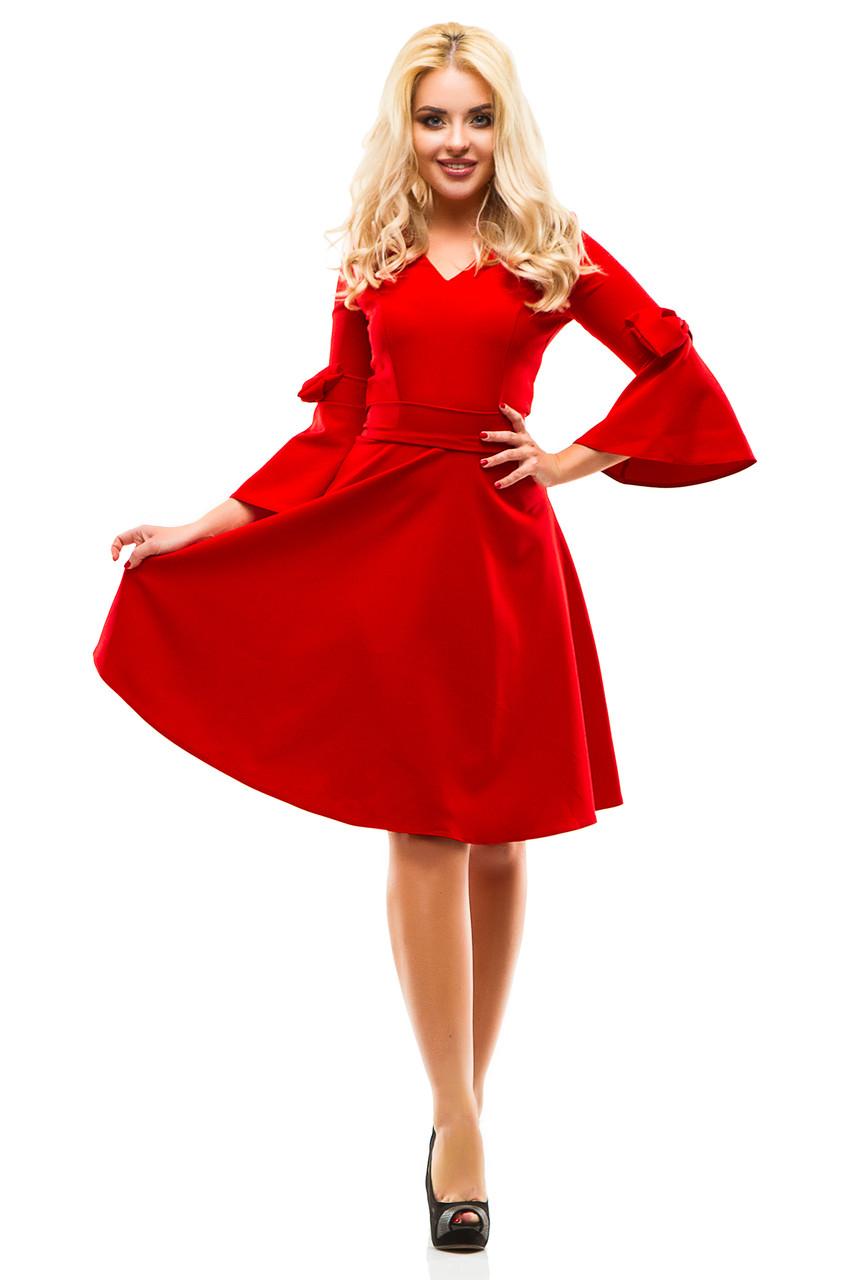 Платье 244 красное