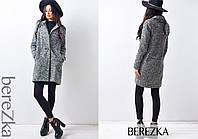 Пальто из буклированной ткани 0921-2