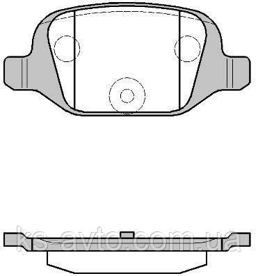 Колодки тормозные задние   ROADHOUSE RH 2727.00 Lada Калина Sport