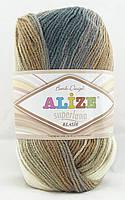 Alize Superlana Klasik Batik №3160 молочно-серо-коричневый