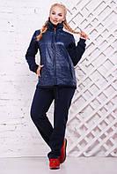 Женский теплый спортивный костюм Николетт / размер 52-62, цвет темно синий