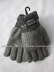 Перчатки детские вязка двойная (от 6 до 10 лет) купить оптом в Украине