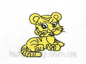 Дитяча нашивка тигреня 53х52мм, фото 2