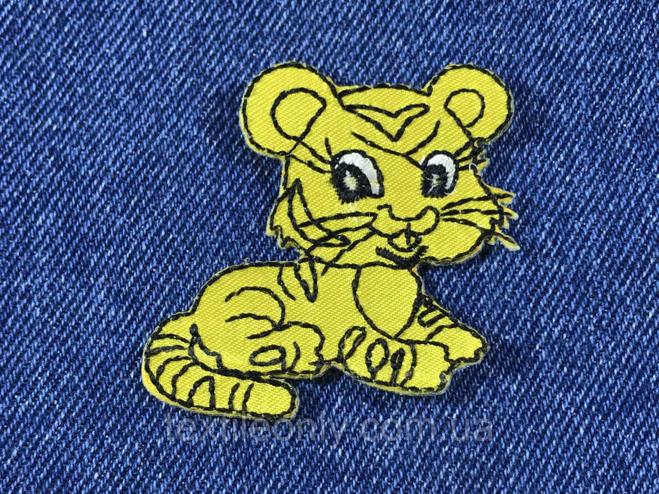 Детская нашивка тигренок 53х52мм