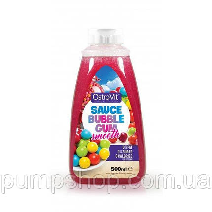 Сироп Ostrovit ZERO CALORIES SAUCE Bubble gum 500 мл, фото 2