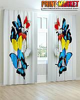 Фотошторы разноцветные бабочки 3d