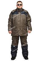 """Теплый зимний костюм для рыбаков и охотников """"Турист"""" Хаки размер 48-50"""