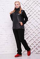 Женский теплый спортивный костюм Николетт / размер 52-62, цвет черный