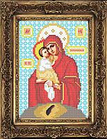 Схема иконы для вышивки бисером - Почаевская Пресвятая Богородица, Арт. ИБ5-82