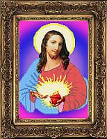 Схема иконы для вышивки бисером - Сердце Иисуса Христа, Арт. ИБ4-26
