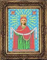 Схема иконы для вышивки бисером - Покров Пресвятой Богородицы, Арт. ИБ4-31-1
