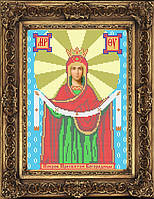 Схема иконы для вышивки бисером - Покров Пресвятой Богородицы, Арт. ИБ4-31-2