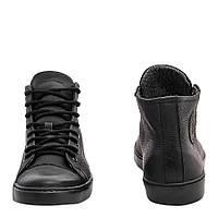 Мужские кожаные кеды кроссовки Форестер черные 40-45 р. на мембране, фото 1