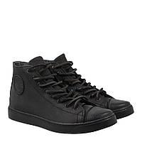 Мужские кожаные кеды кроссовки Форестер черные 40-45 р. на мембране