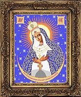 Схема иконы для вышивки бисером - Остробрамская Пресвятая Богородица, Арт. ИБ3-7