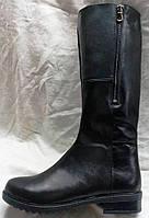 Женские кожаные зимние сапоги на худую ногу, сапоги кожаные зимние от производителя модель НС5