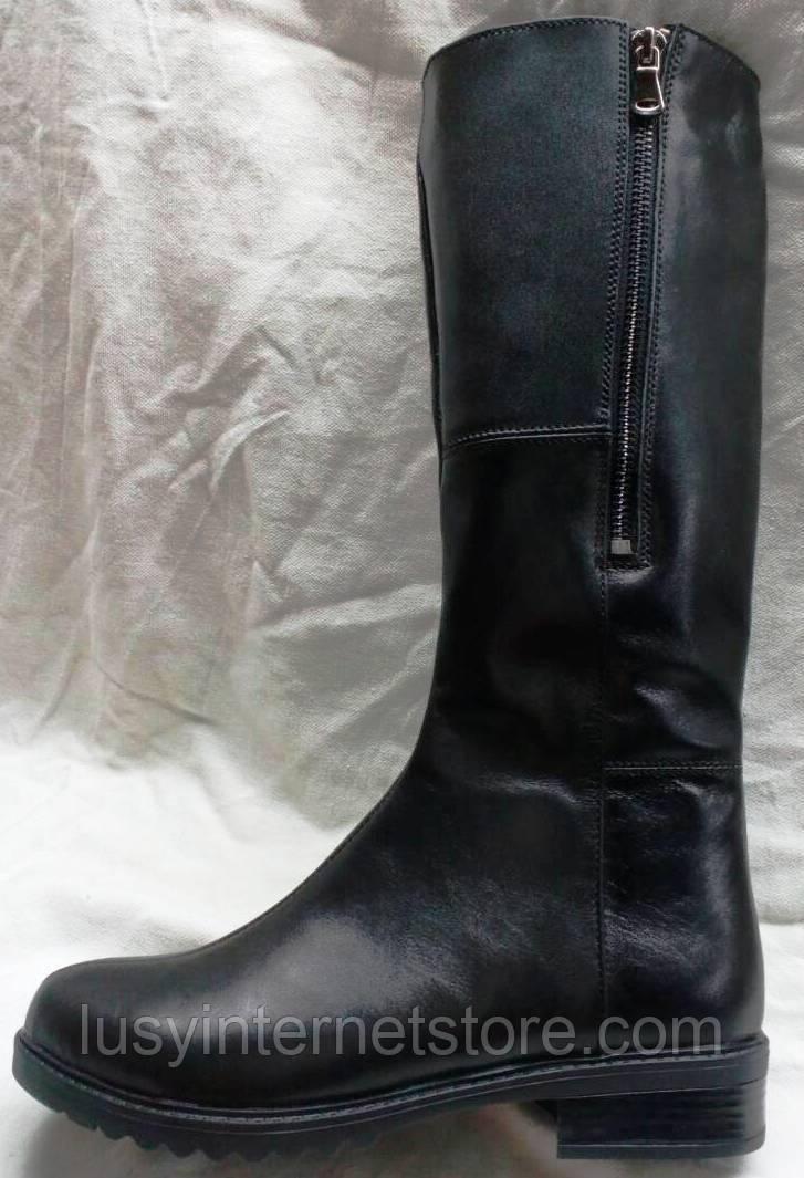 ce6b4a2d20f4 Женские кожаные зимние сапоги на худую ногу, сапоги кожаные зимние от ...