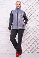 Женский теплый спортивный костюм Николетт / размер 52-62, цвет темно серый