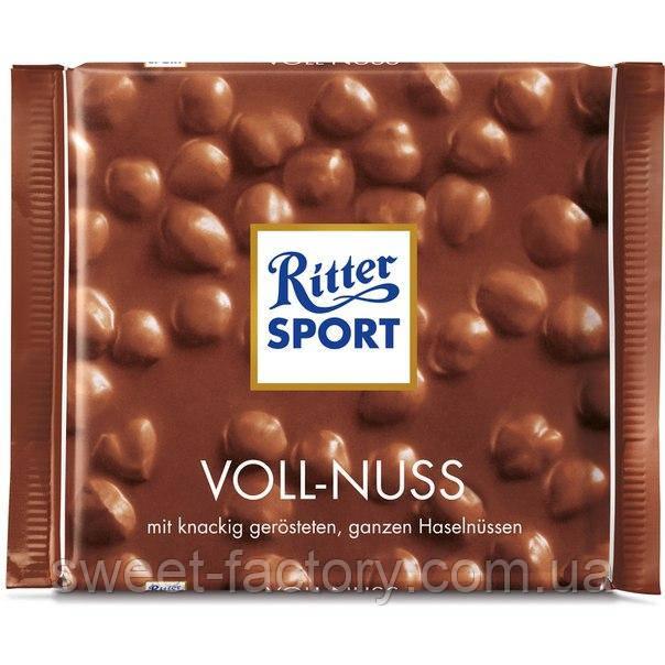 Шоколад Ritter Sport молочный с фундуком
