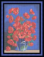 Схема для полной вышивки бисером - Букет маков в вазе, Арт. НБп2-3-2