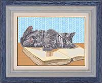 Схема для полной вышивки бисером - Игривый котенок, Арт. ЖБп3-7-2