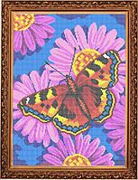 Схема для полной вышивки бисером - Бабочка на цветке, Арт. ЖБп3-24