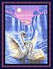 Схема для полной вышивки бисером - Пара лебедей под луной, Арт. ЖБп3-54