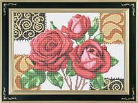 Схема для полной вышивки бисером - Букет роз, Арт. НБп3-6-1