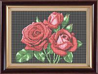 Схема для полной вышивки бисером - Алые розы, Арт. НБп3-6-3