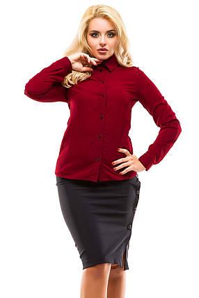 Блузка 246 бордо размер 46, фото 2
