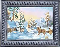 Схема для полной вышивки бисером - Зимней пейзаж, Арт. ПБп3-16