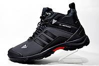 Зимние кроссовки Adidas Climaproof, мужские на меху (Black\Gray)