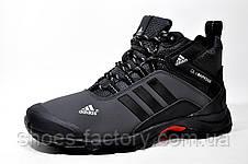 Зимние кроссовки в стиле Adidas Climaproof, мужские на меху (Black\Gray), фото 2