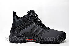 Зимние кроссовки в стиле Adidas Climaproof, мужские на меху (Black\Gray), фото 3