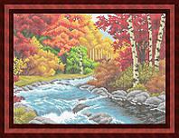 Схема для полной вышивки бисером - Речка в лесу, Арт. ПБп3-23