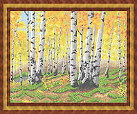 Схема для полной вышивки бисером - Березовый лес, Арт. ПБп3-24