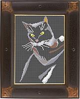 Схема для полной вышивки бисером - Черный кот, Арт. ЖБп4-2