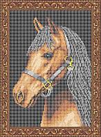Схема для полной вышивки бисером - Лошадь, Арт. ЖБп4-3-3