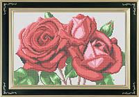 Схема для полной вышивки бисером - Букет алых роз, Арт. НБп4-6-1