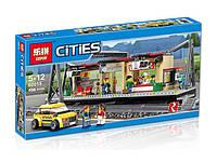Конструктор Lepin серия Cities 02015 Железнодорожный вокзал (аналог Lego City 60050)