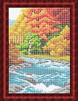 Схема для полной вышивки бисером - На берегу реки, Арт. ПБп4-13