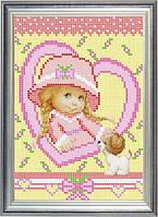 Схема для частичной вышивки бисером - Маленькая леди, Арт. ДБч5-7