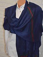 Палантин Gucci (Гуччи) темно-синий