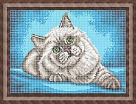 Схема для полной вышивки бисером - Пушистый кот, Арт. ЖБп4-18