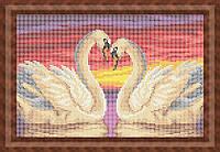 Схема для полной вышивки бисером - Лебединая верность, Арт. ЖБп4-21